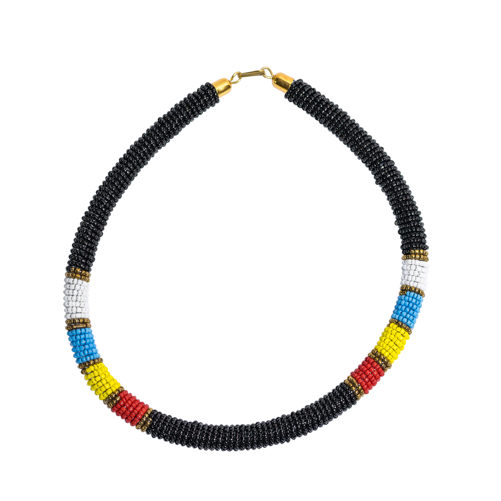 Maasai Beaded Necklaces Black