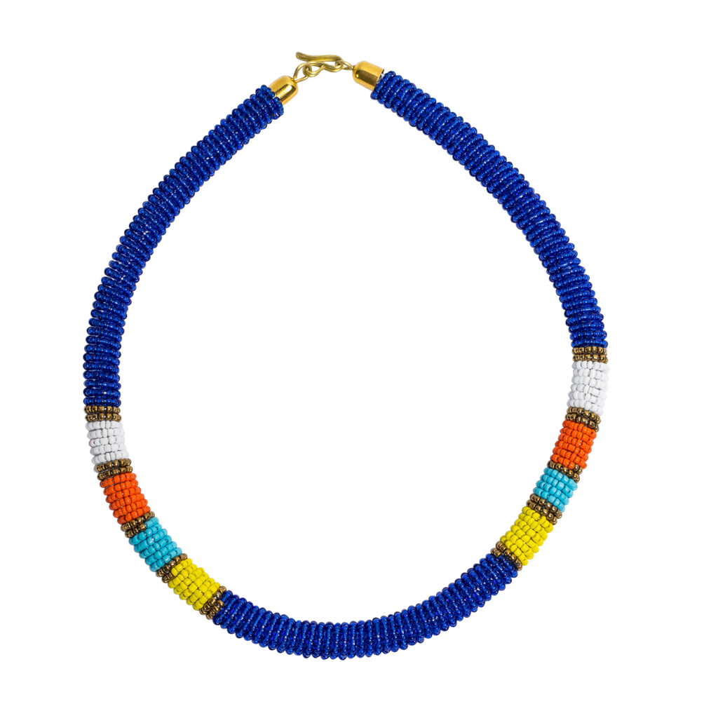 Maasai Beaded Necklaces Blue