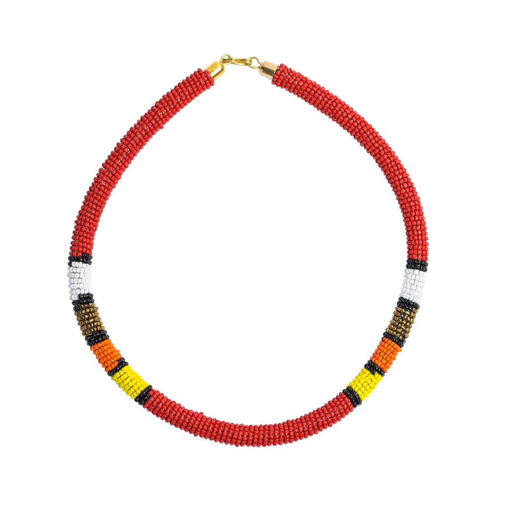 Maasai Beaded Necklaces Red