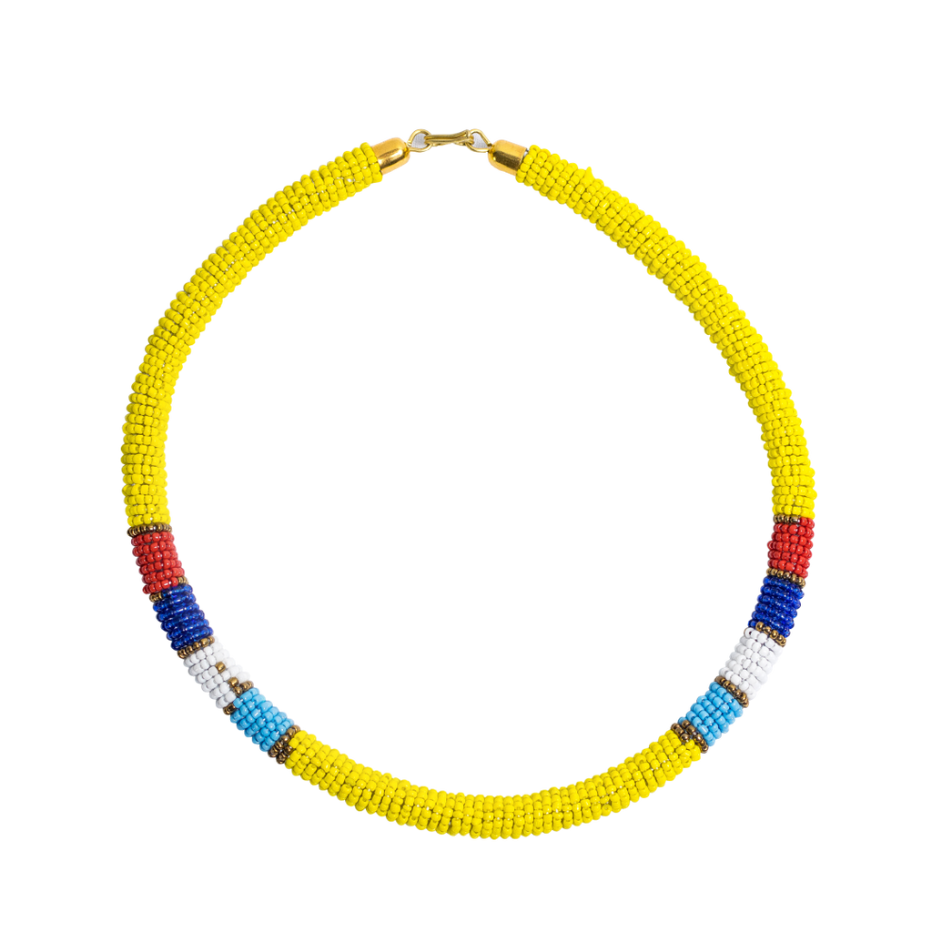 Maasai Beaded Necklaces Yellow