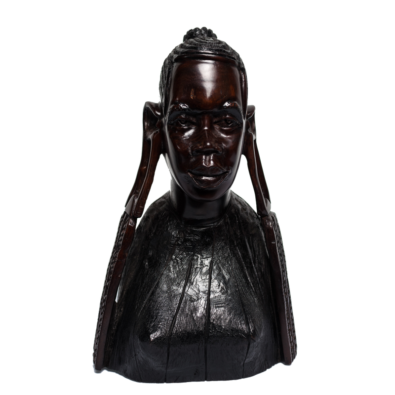 Maasai Head Wood Female