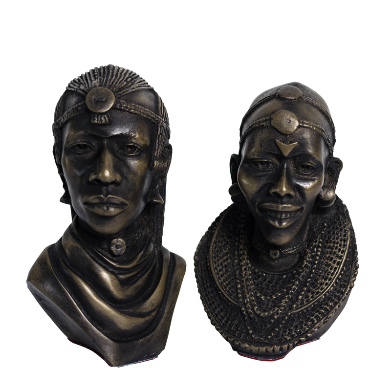 Maasai Heads Set Small