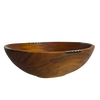 Round Olive Wooden Bowl Set