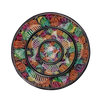Soapstone Colourful Fish Plate Set - Black Border