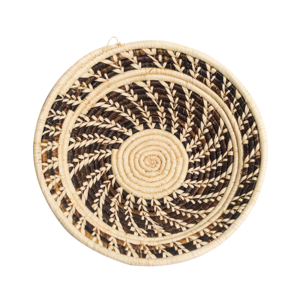 White/Brown Banana Weaved Basket
