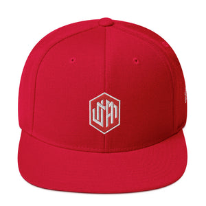 Diamanted Red Snapback Hat