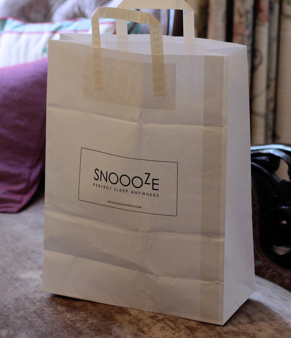 Snoooze world printed paper bags