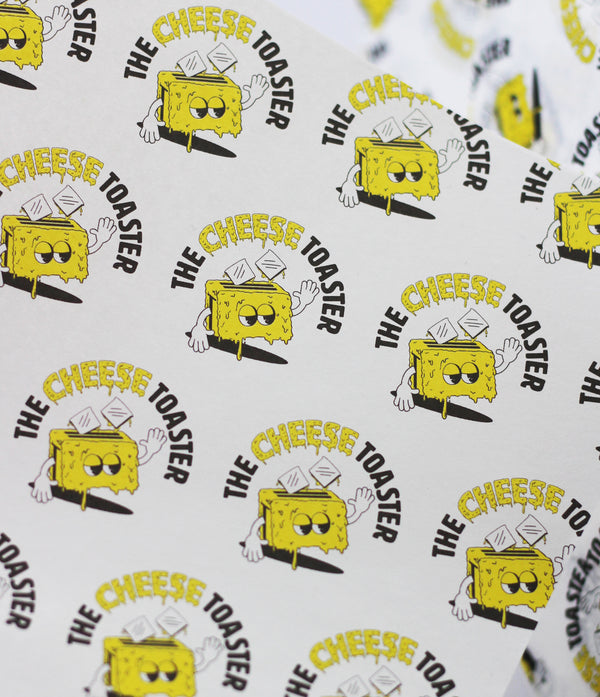 THE CHEESE TOASTER Custom Printed Greaseproof Paper