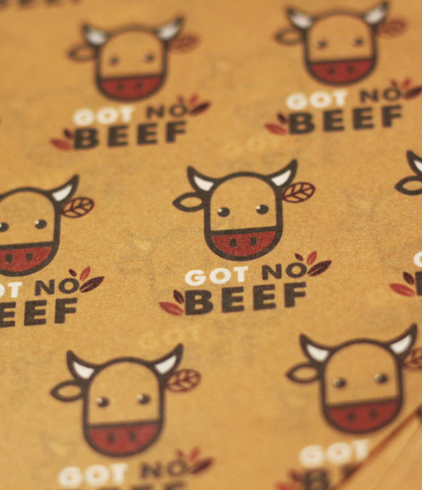 GOT NO BEEF Printed Greaseproof Paper