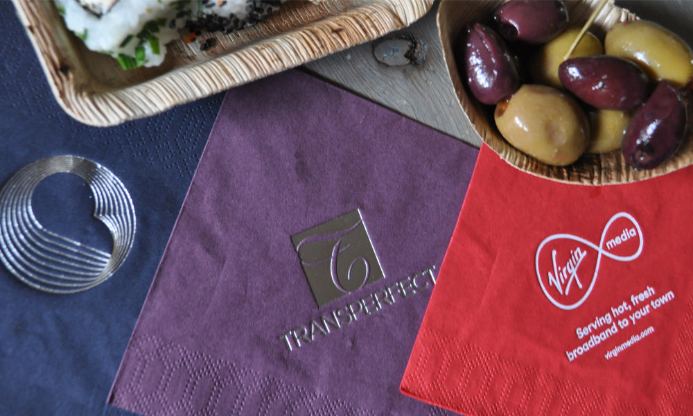personalised printing on napkins - promotional catering