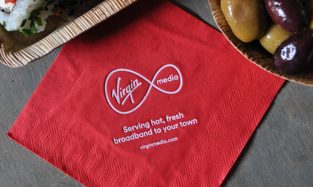 promotional napkins for events - custom printed