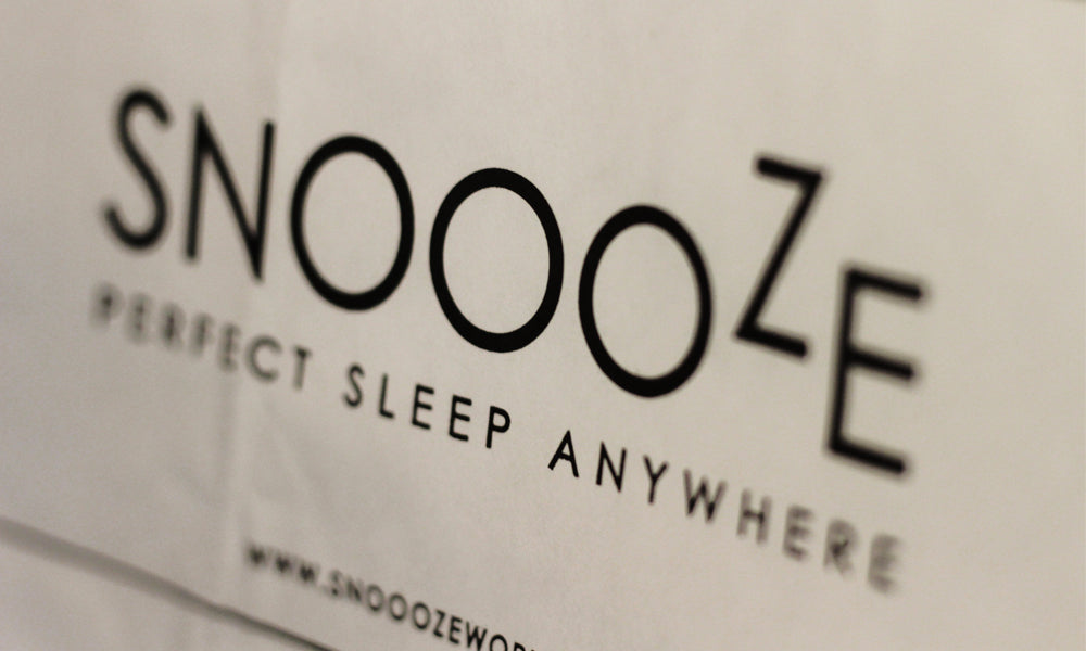 custom printed paper bags for snoooze world travel pillows