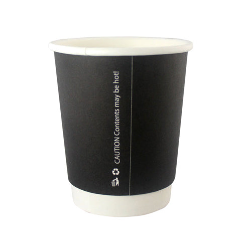 black double walled coffee cups