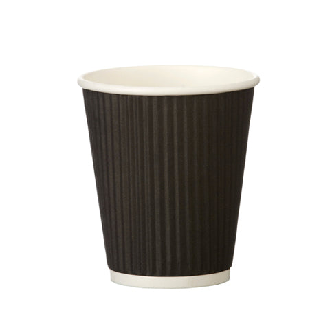 black ripple paper cups