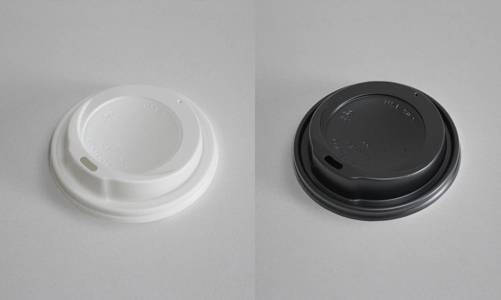 branding paper cup lids black and white options