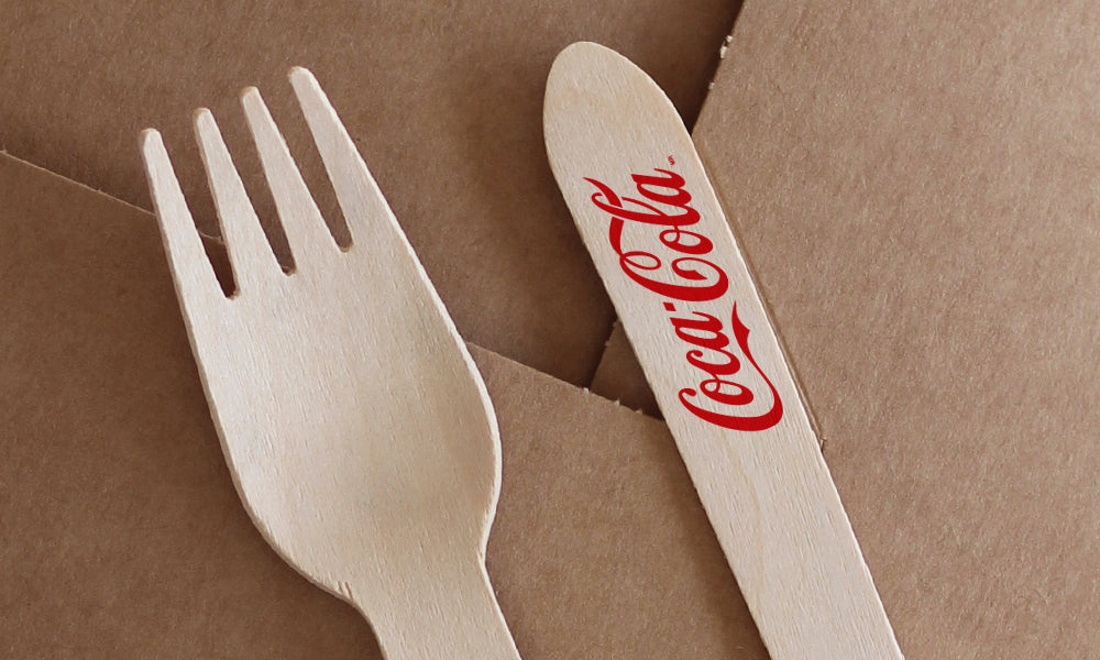 promotional cutlery - wooden forks - spoons - knives
