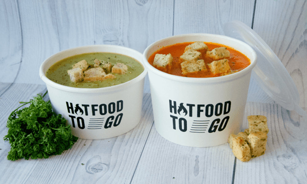 custom printed food tubs