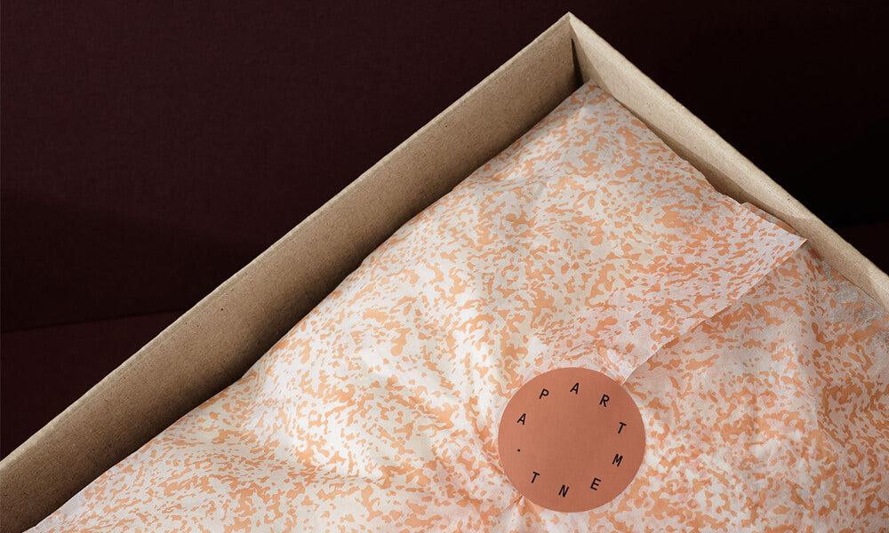 custom printed tissue paper in delivery box