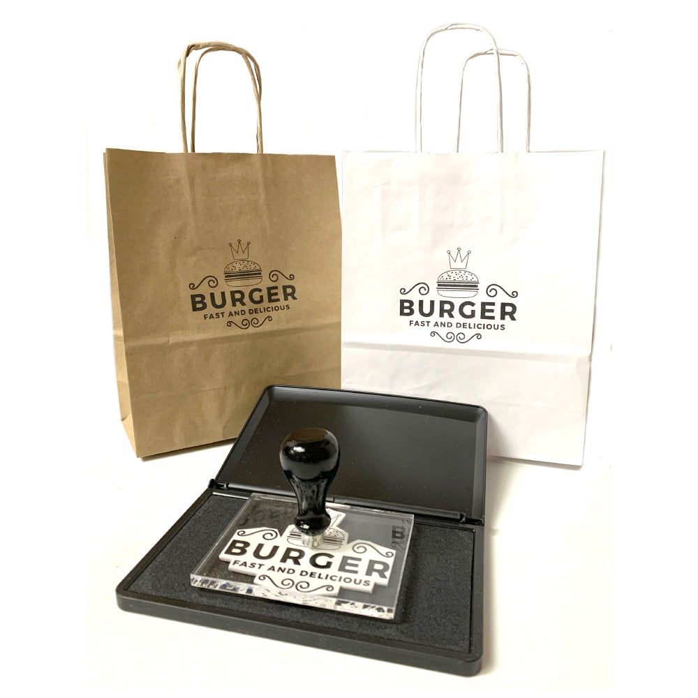 rubber stamps for paper bags