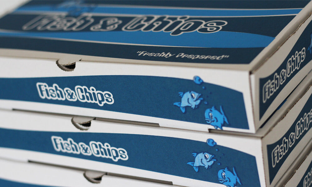 customised fish and chip boxes