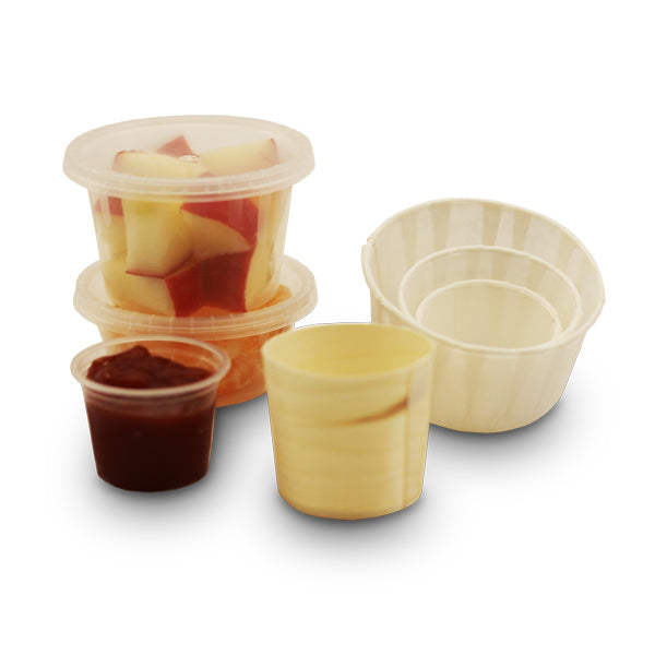 sauce and portion pots