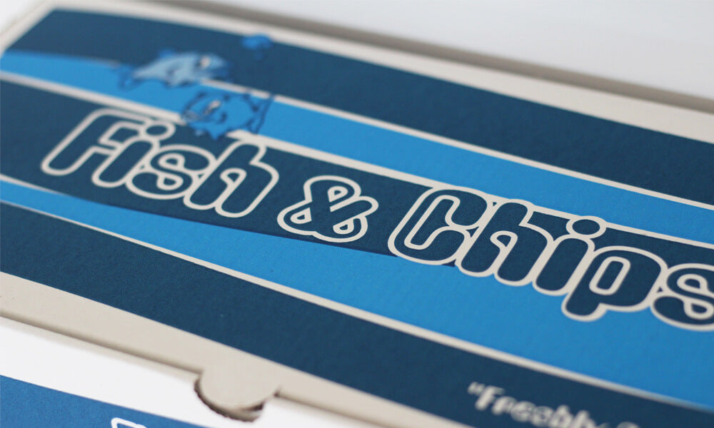 personalised fish and chip boxes