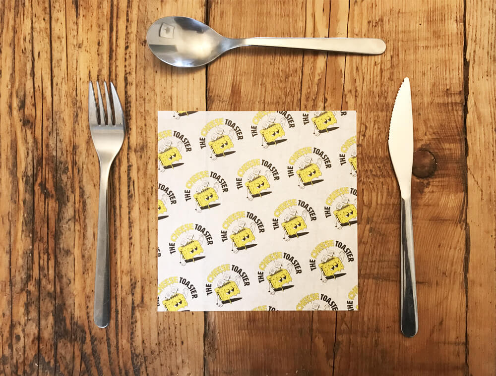 custom printed greaseproof paper size: 160 x 160mm