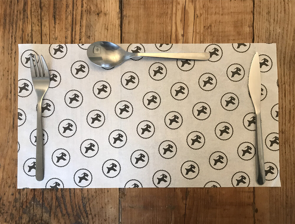 printed greaseproof paper size 402mm x 297mm