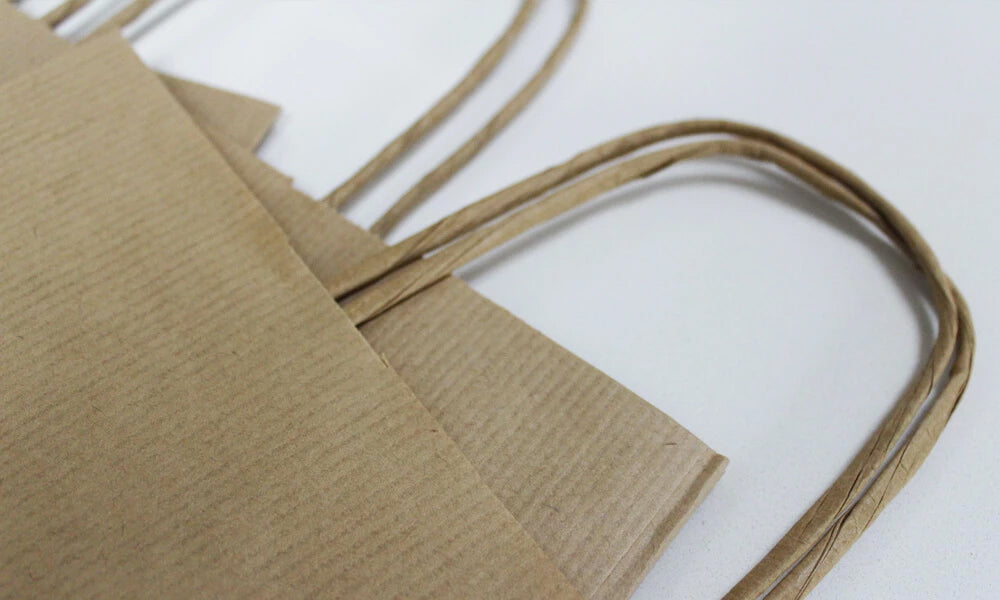 cheap printed paper bags - twist handles