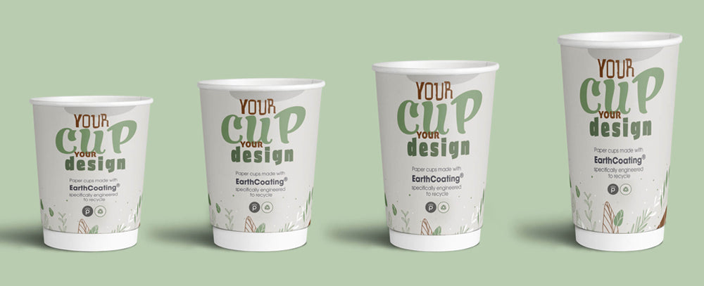 reCUP branded paper cups 100% recyclable