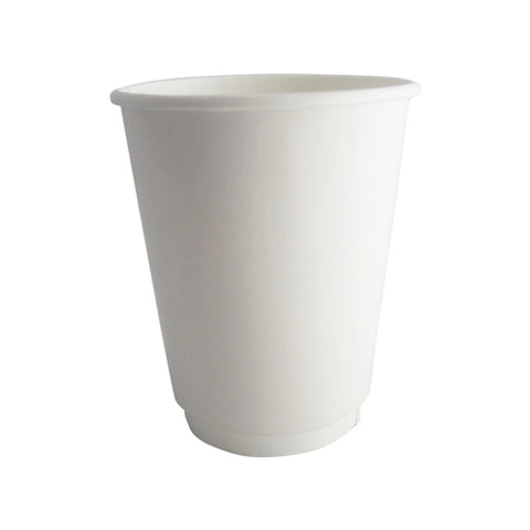 white double walled cups
