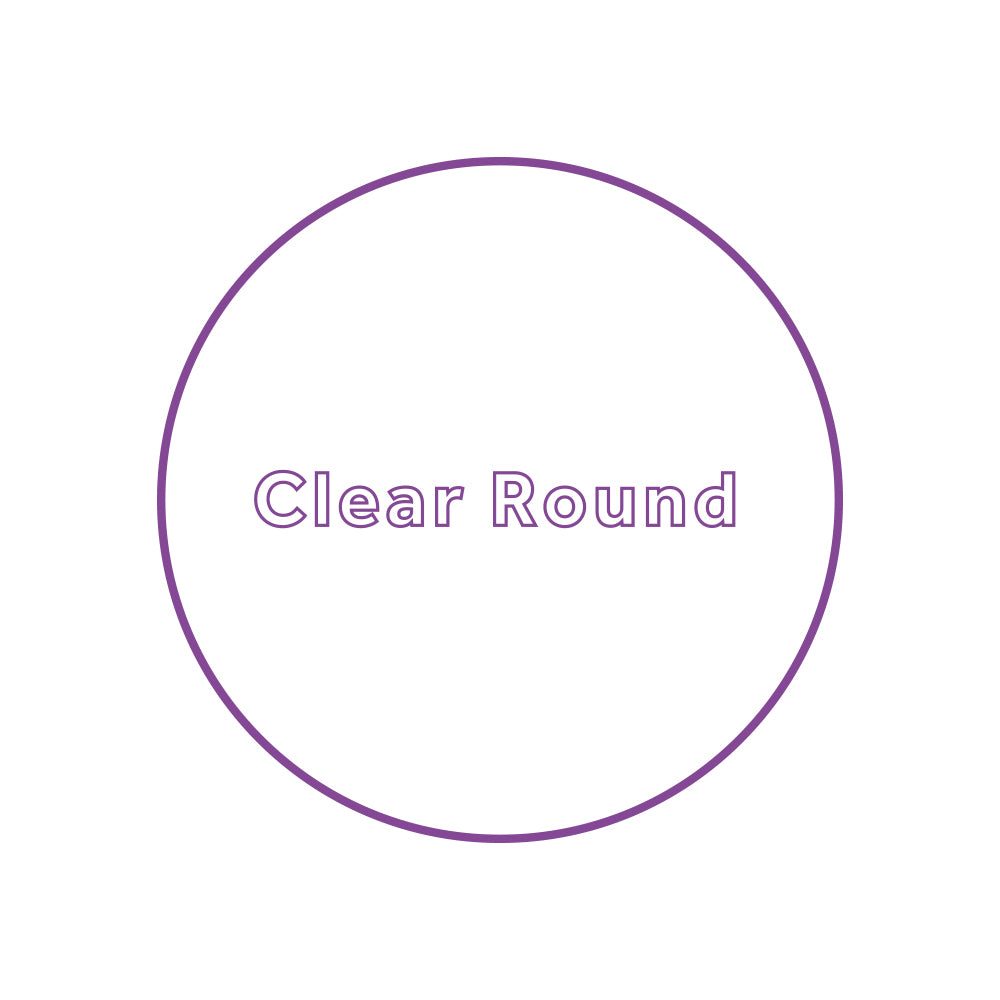 clear round stickers