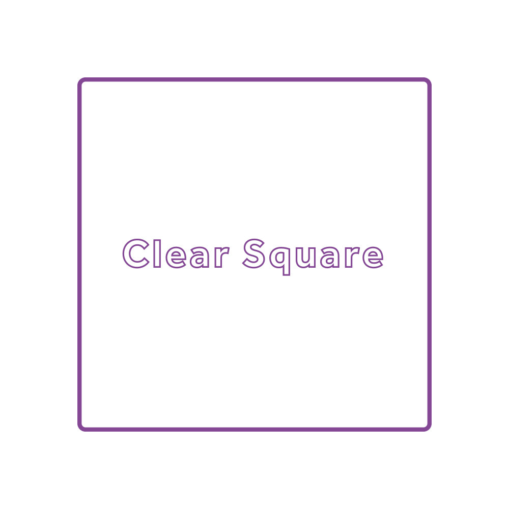 clear square stickers