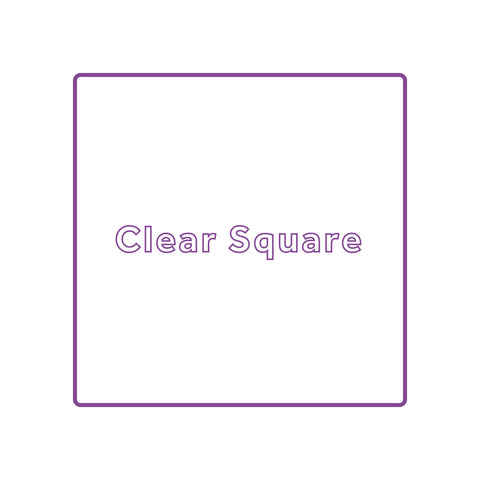 Square - Clear Waterproof Vinyl Printed Stickers / Labels
