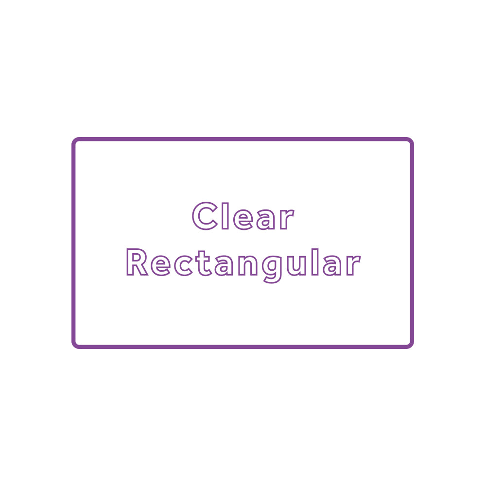 Rectangle - Clear Waterproof Vinyl Printed Stickers / Labels