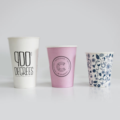 Custom Paper Coffee Cups Wholesale 12oz paper coffee cups White (90mm) 30,000 cups