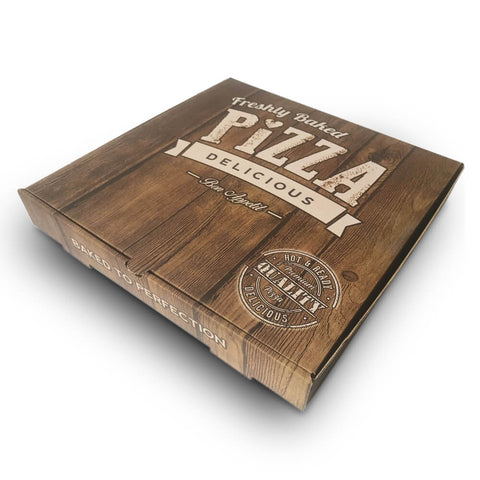 Printed Pizza Boxes 9 Inch Brown / Brown
