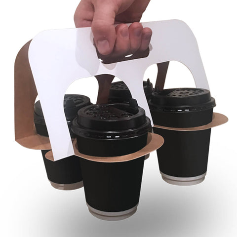 Splittable Drink Carriers (400 units Plain White)