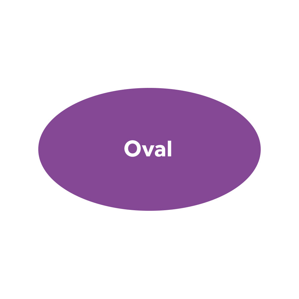 Oval Stickers - Premium Paper / Eco Friendly