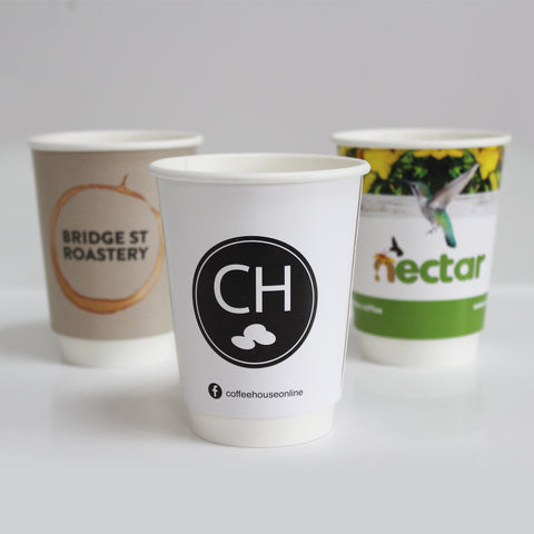 Compostable Double Wall Custom Branded Coffee Cups