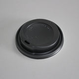 plastic coffee cup lid - black - 16oz - 12 oz