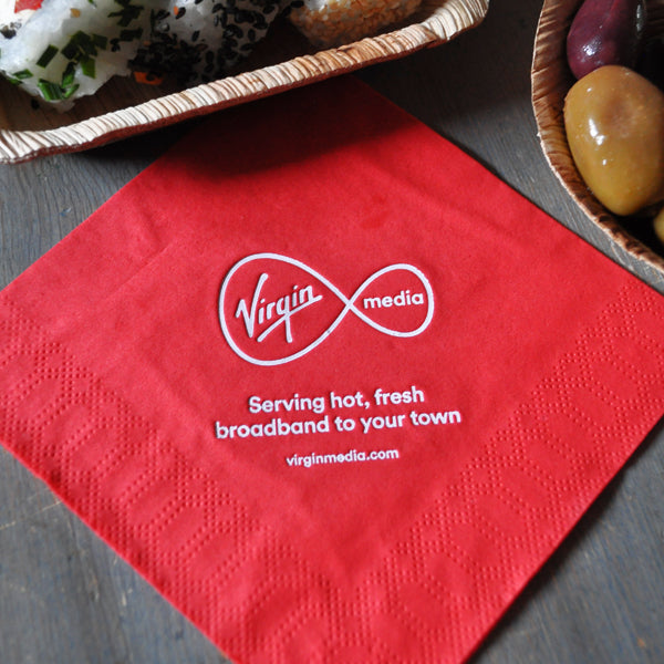 custom printed napkins uk