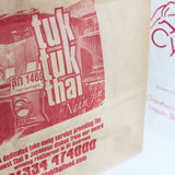 Small White Custom Printed Paper Carrier Bags - 1 Colour Print