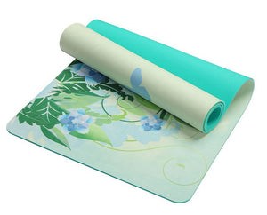 5 MM Yoga Mat Pad Lotus Pattern Suede TPE  Non-slip Slimming Exercise Fitness Gymnastics Mat Body Building Esterilla Pilates