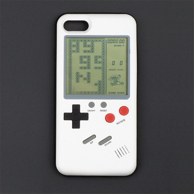 Étui pour  iPhone style rétro - Game Boy Addict