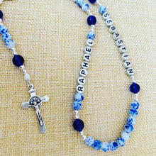 Load image into Gallery viewer, Personalized China Blue Rosary