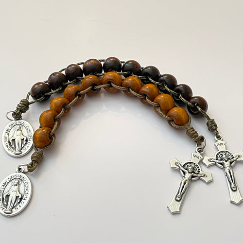 One Decade Ladder Wood Rosary | Pocket Rosary