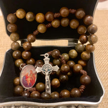 Load image into Gallery viewer, Holy Family Wood Rosary