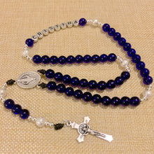Load image into Gallery viewer, Personalized Royal Blue Rosary