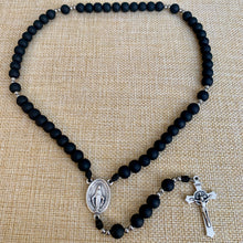 Load image into Gallery viewer, Midnight Black Rosary